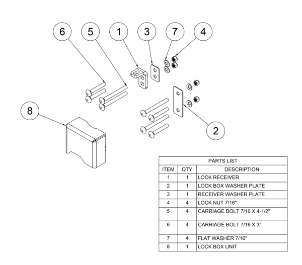 Container Lock Box Parts