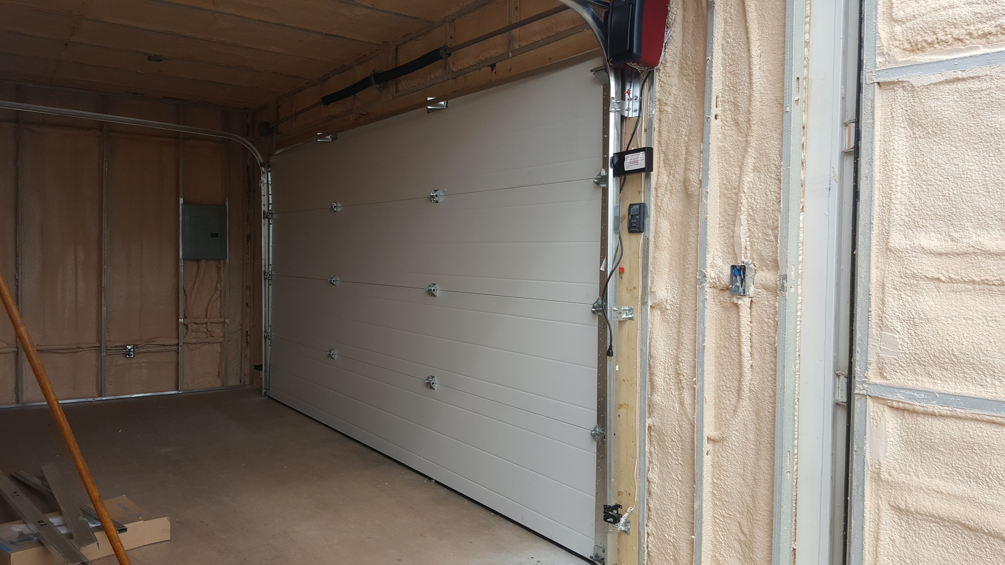14' Insulated Overhead Door in 20' HC Interior