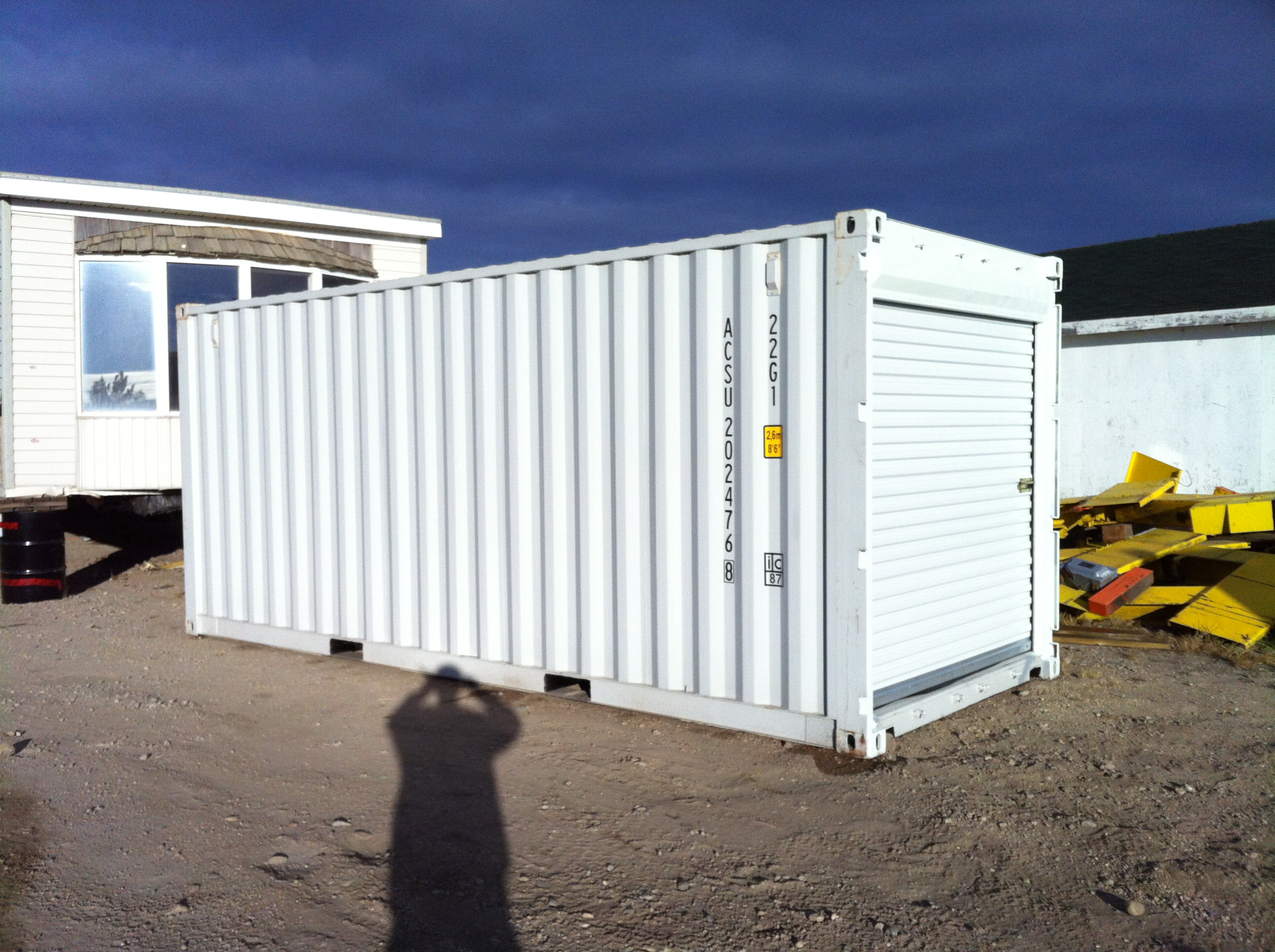 Container Doors Removed - Roll Up Door Installed