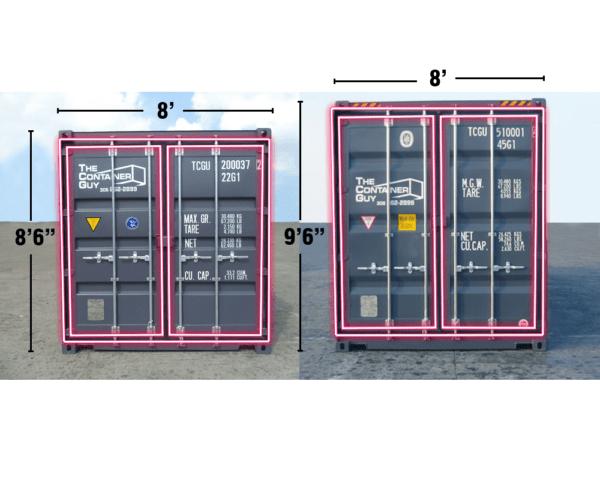 """Standard Container (8' x 8'6"""") Door Gasket Seal"""