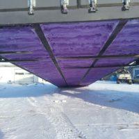 HAZMAT Containment Pan Underside w/Spray Foam