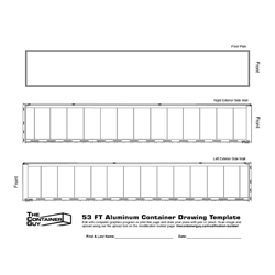 53 ft Container Drawing Template
