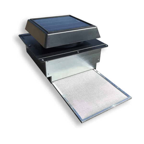 400 CFM Solar Powered Roof Vent for Preventing Condensation and Excessive Heat in New and Used Sea Cans, Shipping Container Homes, Cabins and Offices